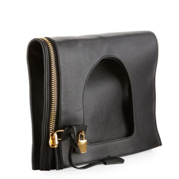 d4f3f829f5ab SALE!!! Tom Ford Alix large padlock zipper bag. M 5b7a10ff0cb5aa5baf9040e7